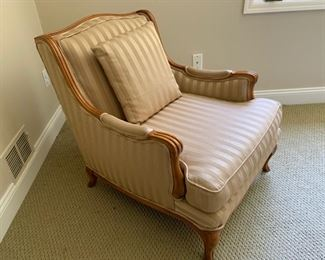 156. Silk Upholstered Armchair (29'' x 31'' x 32'')