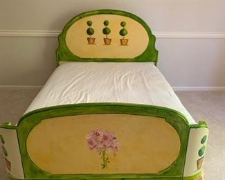 161. Full Handpainted Antique Bed