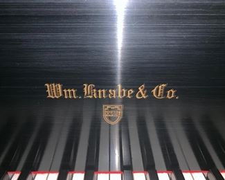 60. Wm. Knabe & Co. Baby Grand in Satin Ebony Finish, #152049,  w/ Cheetah Print Bench, 5'4""