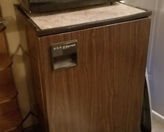 Microwave and small refrigerator