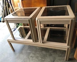 We have several coffee and end tables