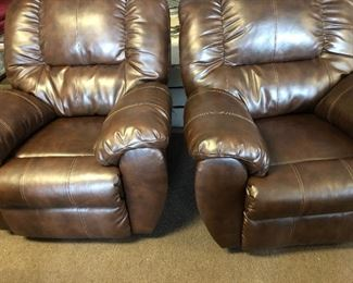 Awesome set of leather recliners!