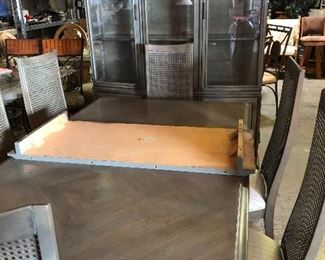 Very nice table, chairs, and buffet!