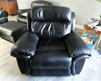 Nice black leather recliner