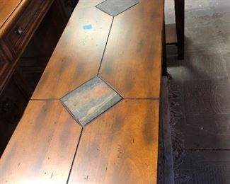 Matching sofa table and end table.  Very nice!
