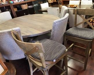 Super nice table with chairs and 2 matching barstools!