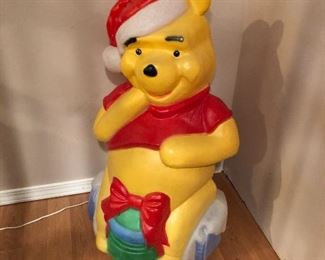Light up Santa's Best Winnie the Pooh blow mold