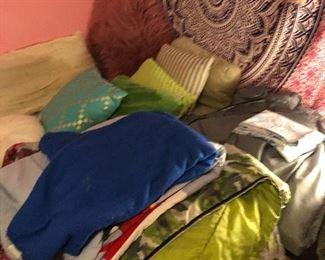 Pillows, bedding