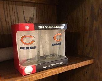 NFL 16 oz. pint glasses Chicago Bears