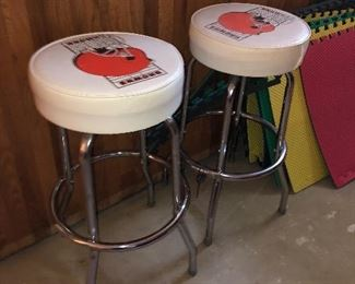 Cleveland Brown bar stools, 2