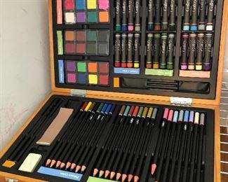 Artist drawing supplies