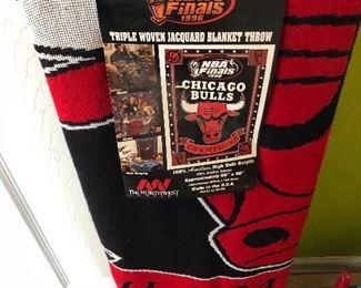 NBA Finals 1996 Bulls blanket throw