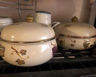 Vintage Porcelain Enamel cookware