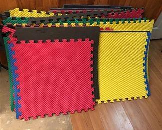 Playroom/gym floor puzzle foam mats