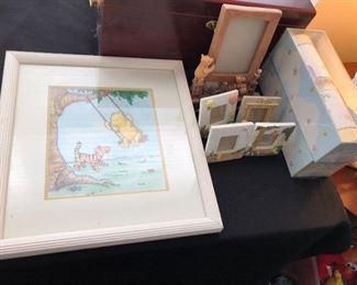 Framed Winnie the Pooh art print