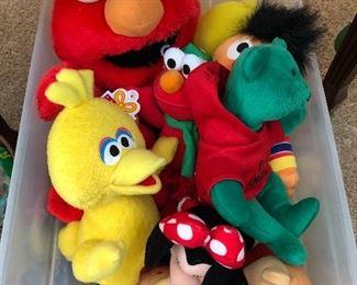Sesame Street & Disney plush