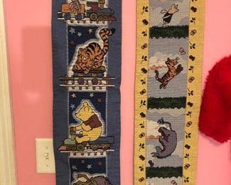 Winnie the Pooh nursery wall hangings