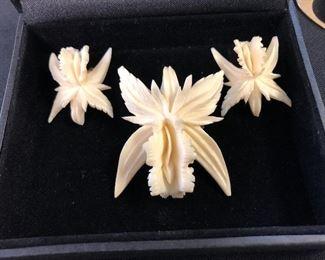 Vintage Pin, earrings, made in Germany