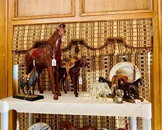 Western sculptures and collectibles John Wayne ducks Unlimited Cowboys