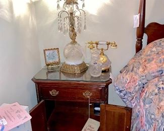 Pennsylvania house night stand  crystal lamp Crystal telephone