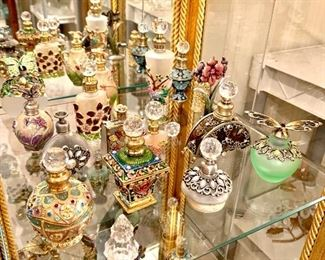 Crystal enamel porcelain, Mirono Stravinsky crystal perfume bottles