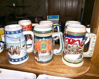 Budweiser beer mugs