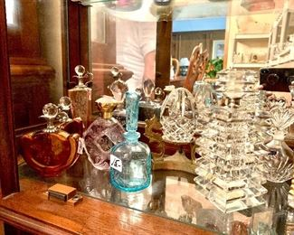 Crystal perfume bottle collection