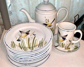 Fitz and Floyd tea set