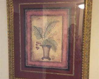 framed fern print