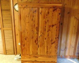 Cedar wardrobe.