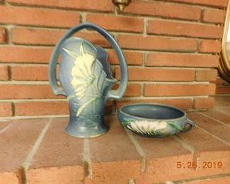 Roseville pottery.