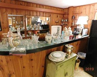 Lots of glassware.