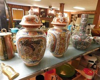 Oriental vases.