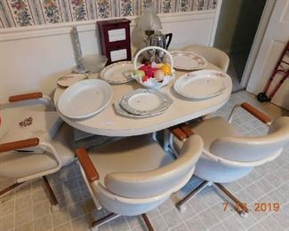 Retro table and chairs.