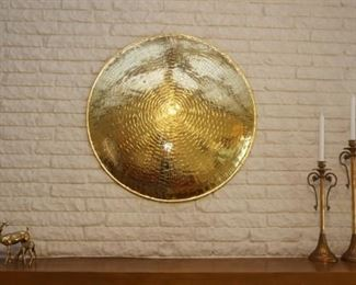 Large brass wall hanging