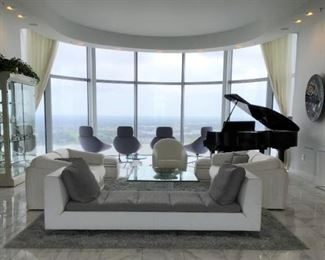 The view...........and a Ligne Roset chaise and more!