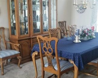 Thomasville China Cabinet and Table