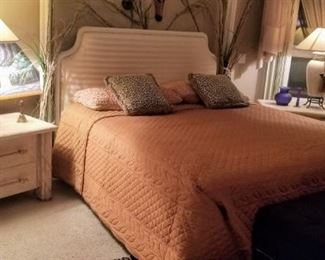 Purchased at Robb & Stucky like new, King Bed with Headboard, 2 Nightstands and Dresser with Mirror (Available for Presale)