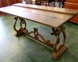 Flip top table, 6 ft long
