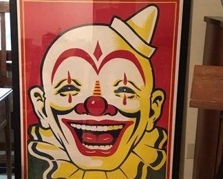 Large original clown poster