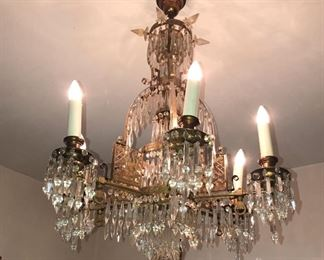 A matching pair of these gas chandeliers converted to electricity.
