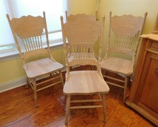 4 Press Back Chairs