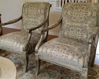 Matching Harden armchairs