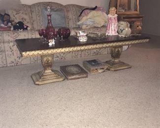 Unique vintage coffee table