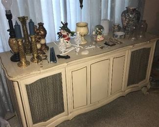 French Provincial stereo console