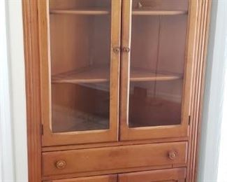 Small antique corner hutch