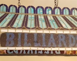 Stain glass Billiards lamp shade