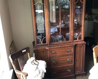 China cabinet, high chair