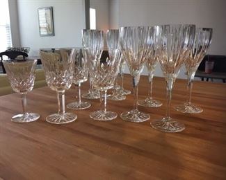 "Various pieces of Waterford ""Lismore"" and Mikasa ""Illusion"" crystal stemware"