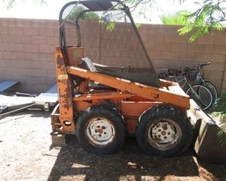 Lahman Skid Steer with Various Attachments:  Auger, Rake, Rototiller + +  ITEM IS LISTED ON EBAY